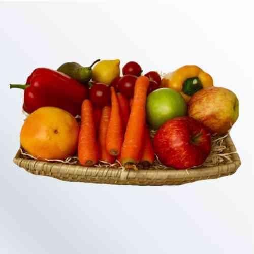 Gemischter Obst-und Gemüsekorb